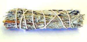 Smudge - White and Blue Sage mix Stick 4in