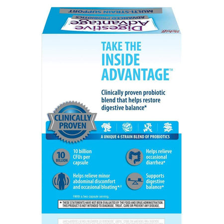 Digestive Advantage Advanced Probiotics Multi-strain Support Capsules 24 Ct