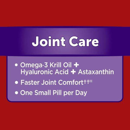 MegaRed Joint Care, Omega 3 Krill Oil Hyaluronic Acid & Astaxanthin Softgels 30 Ct