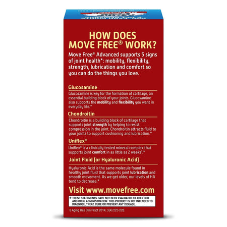 Move Free Advanced Tablets with Glucosamine & Chondroitin Joint Supplements
