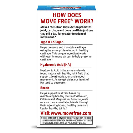 Image of Move Free Ultra Triple Action with Type II Collagen Boron and HA 30 Ct