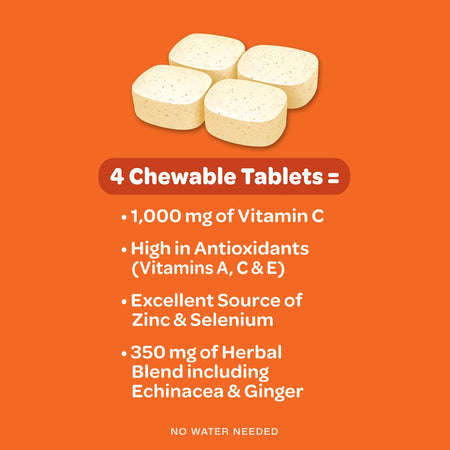 Airborne Citrus Chewable Tablets Immune Support Supplement