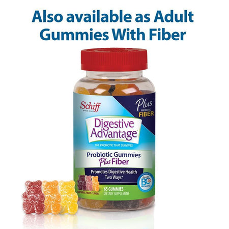 Digestive Advantage Strawberry Daily Probiotic Gummies 60 Ct