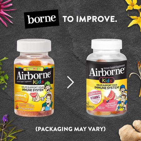 Airborne Kids Assorted Fruit Flavored Immune Support Gummies