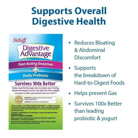 Digestive Advantage Fast Acting Enzymes & Daily Probiotic