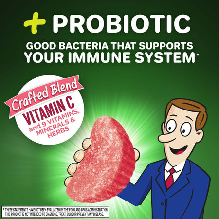Airborne Plus Probiotic Gummies Immune Support Supplement