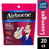 Airborne Berry Flavored Lozenges Immune Support Supplement 20 Ct