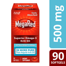Image of MegaRed 500mg Extra Strength Omega-3 Krill Oil Softgels 90ct - AVAILABLE IN CLUB STORES ONLY