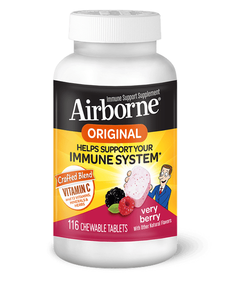 Airborne Berry Chewable Immune Support Tablets