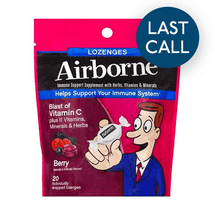 Image of Airborne Berry Flavored Lozenges Immune Support Supplement 20 Ct