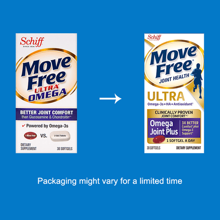 Move Free Ultra Omega with Omega-3 Krill Oil & Hyaluronic Acid 30 Ct Joint Supplements
