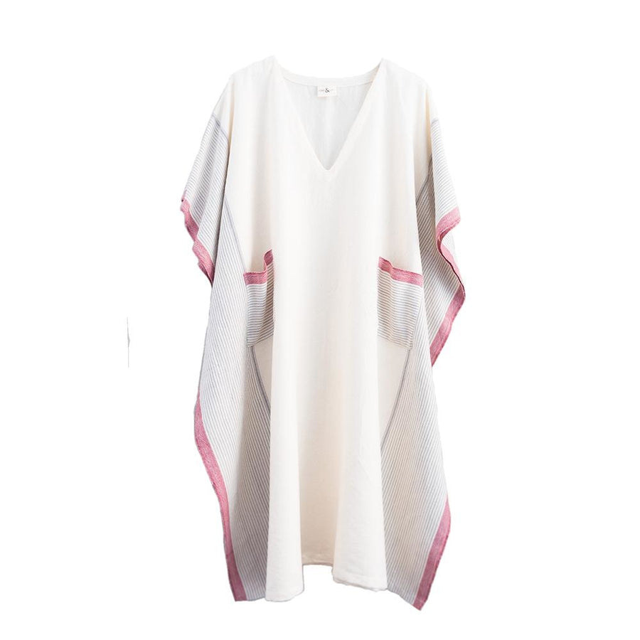 Tribeca Tunic Cream and Red - Home & Loft
