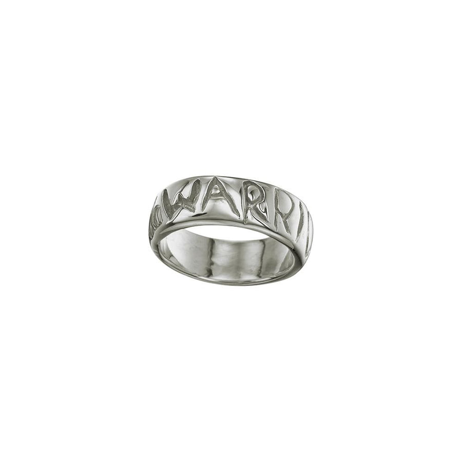 Warrior Ring White Brass - Melissa de la Fuente