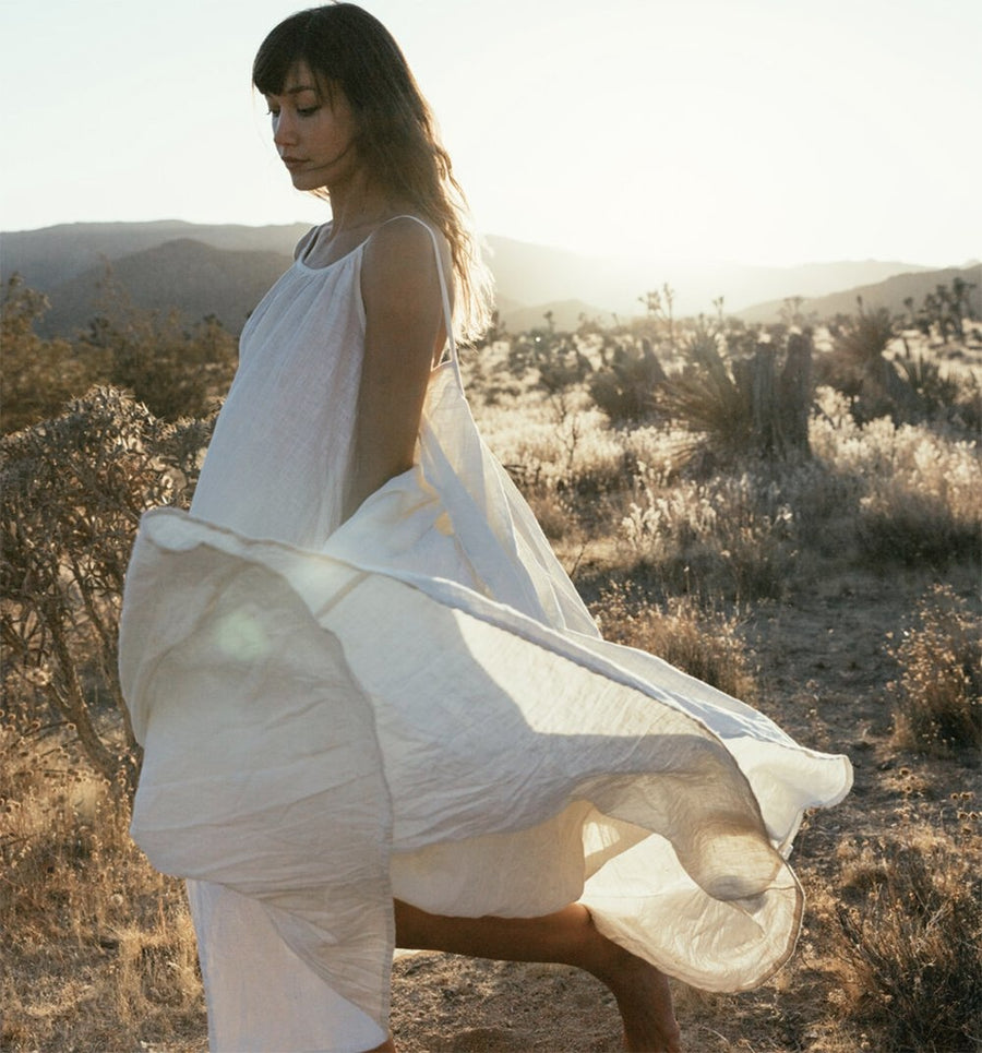 Syros Dress - Milk - Clothing - A Perfect Nomad