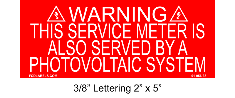 "3/8"" Letters 2"" x 5"" 