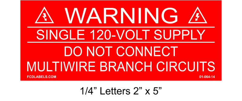 "1/4"" Letters 2"" x 5"" 