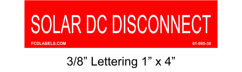 "3/8"" Letters 1"" x 4"" 