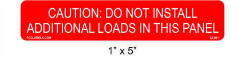 "1"" x 5"" Red & White 