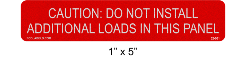 "1"" x 5"" Red & White Reflective 