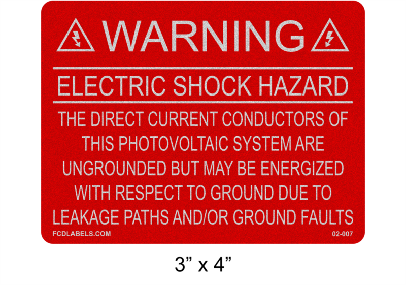 "3"" x 4"" Refelctive 