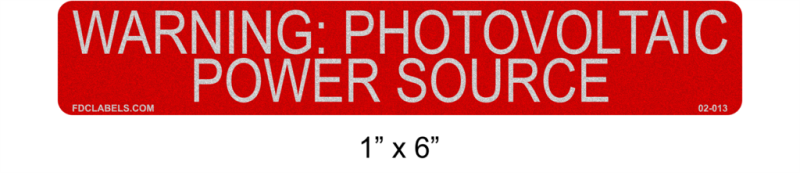 "1"" x 6"" Reflective 