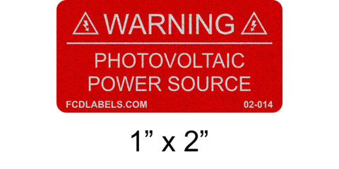 "1"" x 2"" Reflective 