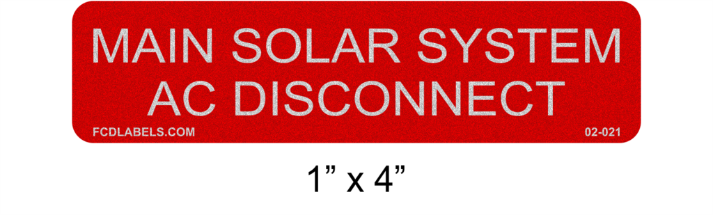"1"" x 4"" Reflective 