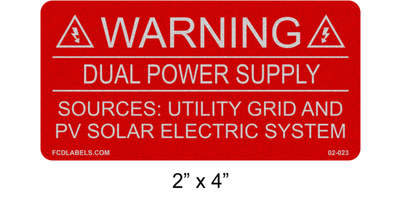 "2"" x 4"" Reflective 