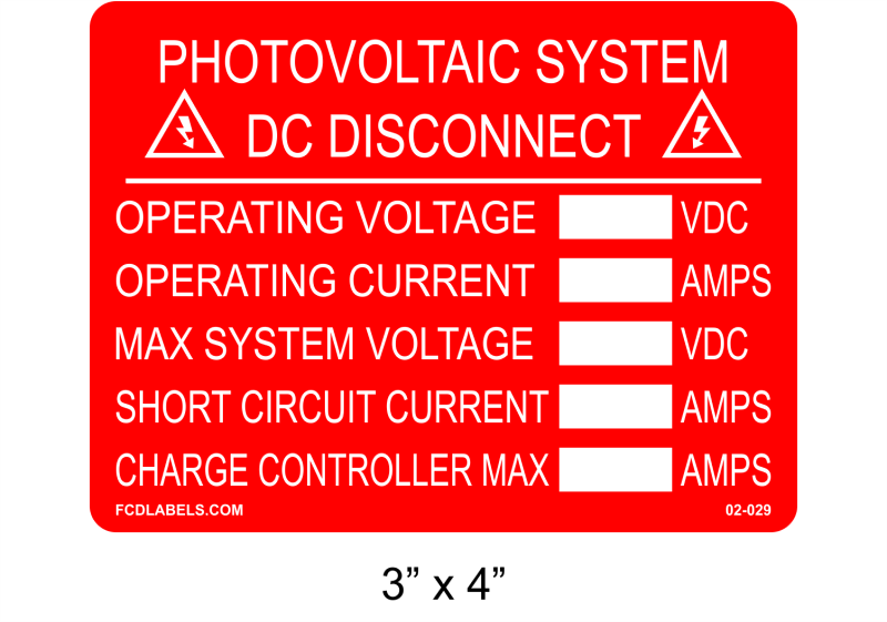 "Red & White 3"" x 4"" 