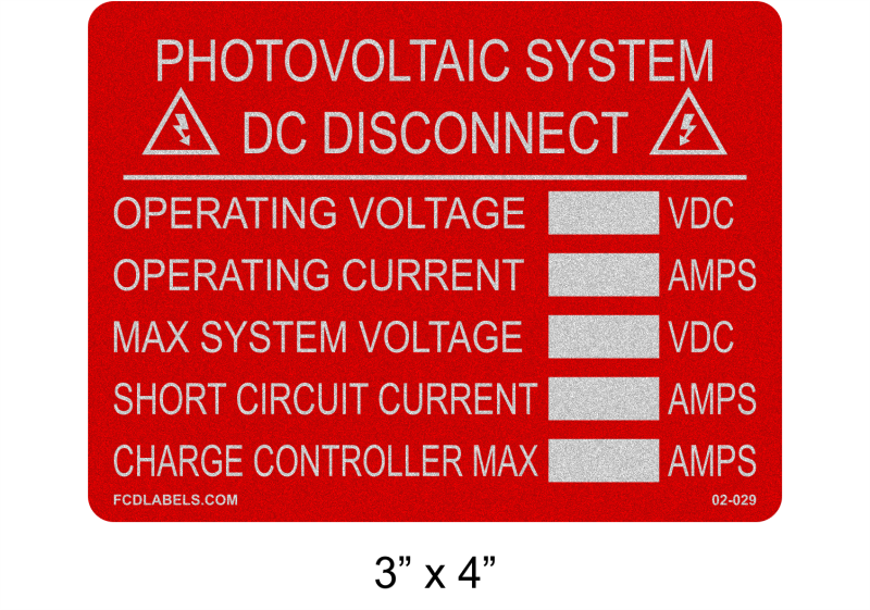 "Reflective Red & White 3"" x 4"" 