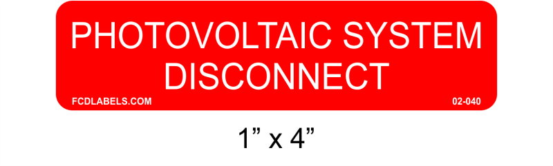 "1"" x 4 