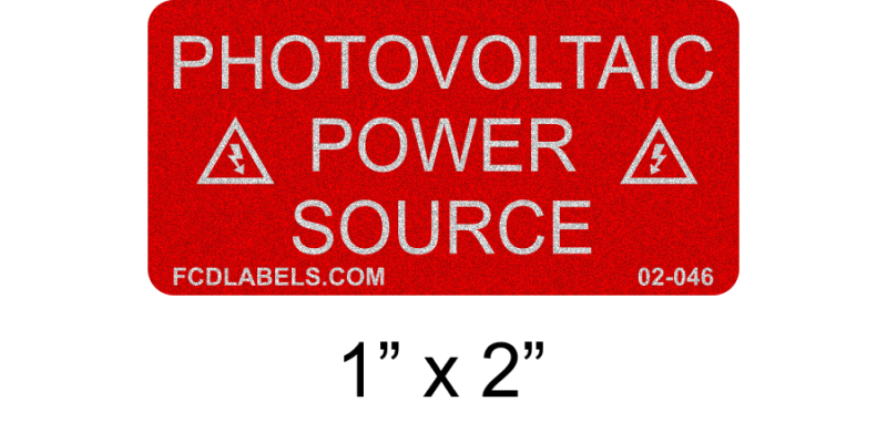 "Reflective Red & White 1"" x 2"" 