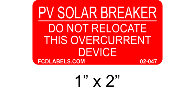 "Red & White 1"" x 2"" 