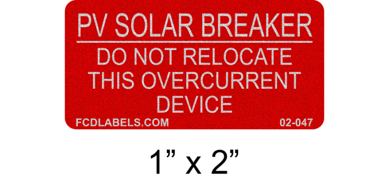 "Red & White Reflective 1"" x 2"" 