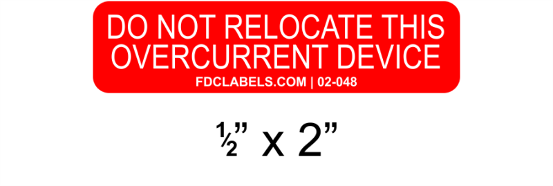 "Red & White .5"" x 2"" 