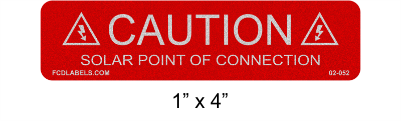 "Reflective Red & White 1"" x 4"" 