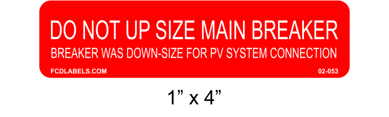 "Red & White 1"" x 4"" 