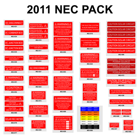 NEC 2011 Labeling Requirements