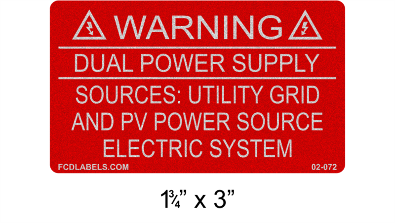 "1.75"" x 3"" Reflective 