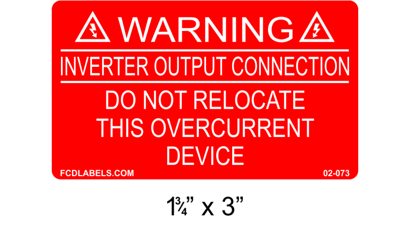 "Red & White 1.75"" x 3"" 
