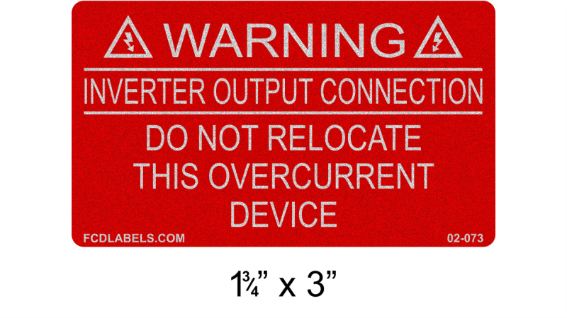 "Reflective Red & White 1.75"" x 3"" 
