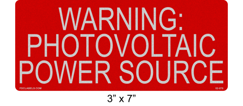 "3"" x 7"" Reflective 