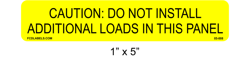 "1"" x 5"" Yellow & Black 