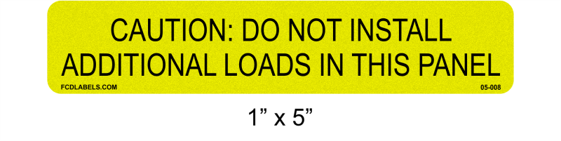 "1"" x 5"" Yellow & Black Reflective 