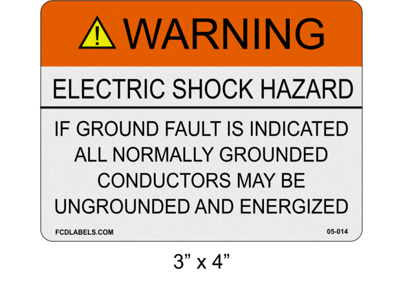 "3"" x 4"" Reflective 