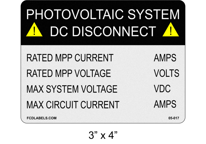 "Reflective ANSI 3"" x 4"" 