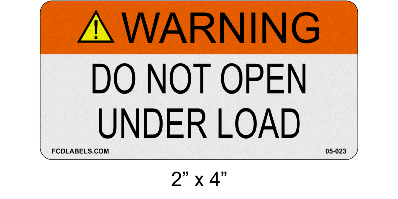 "Reflective ANSI 2"" x 4"" 