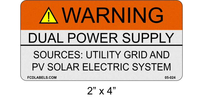"ANSI Reflective 2"" x 4"" 