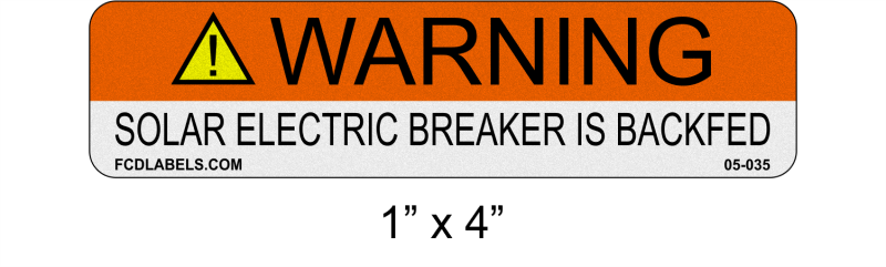 "Reflective ANSI 1"" x 4"" 