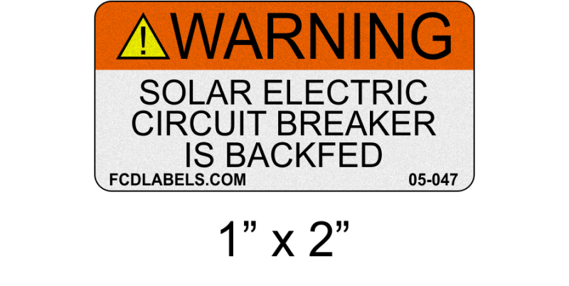 "ANSI Reflective 1"" x 2"" 